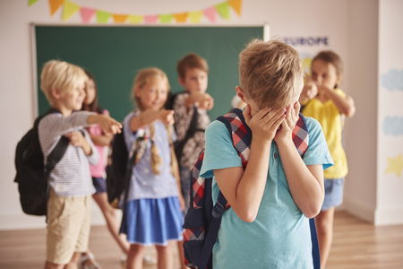 Picture showing children violence  at school 写真素材