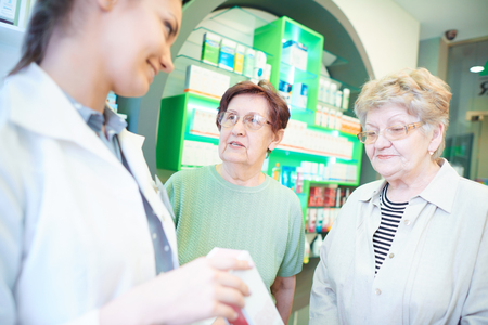 Senior adults clients asking about medications