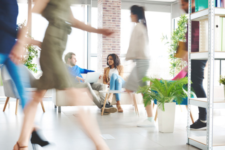 Business people over work at office Stock Photo