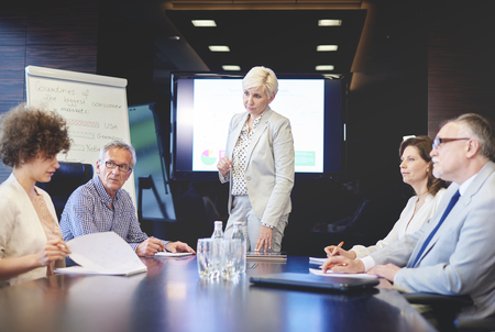 Woman as a chairman on the business meeting Stock fotó