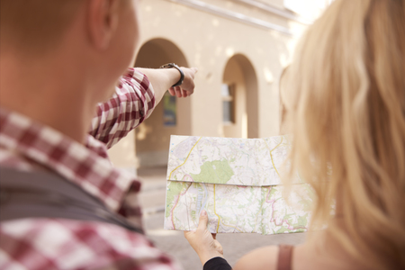 Looking at the directions from the map