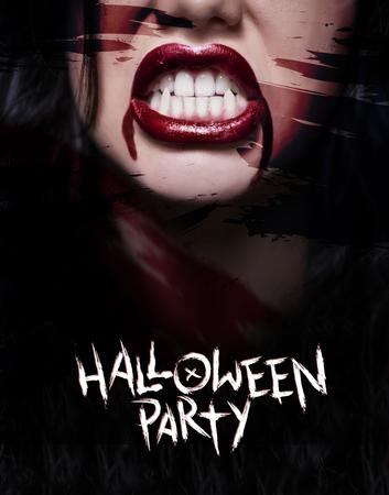 Straszny plakat z przerażającą twarzą