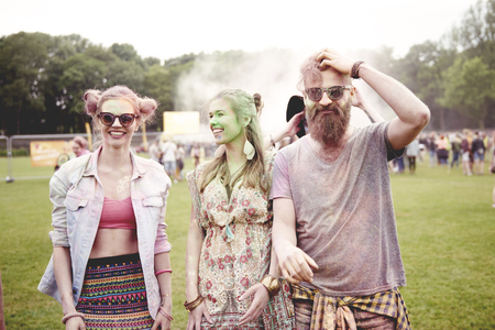 Young people has good party at the festival