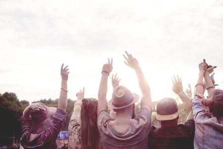 People dancing on fresh air