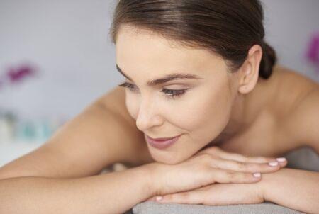 Woman waitting for relaxing massage Stock Photo