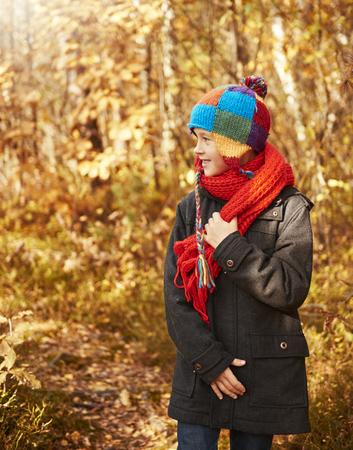 Little boy getting some fresh air outside 版權商用圖片