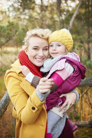 Close up of mummy and her daughter Stock Photo