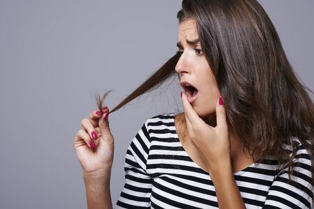 Split ends of hair is a scourge of every woman