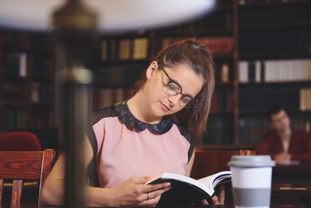 Woman reading an interesting book