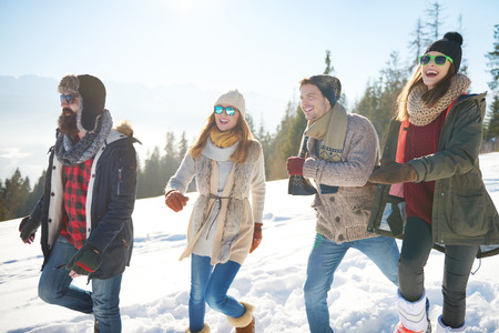 Great day spent outdoors with friends Stock Photo
