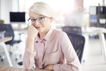 Business person sitting at desk