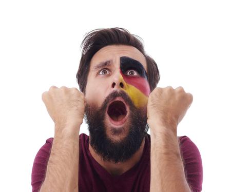 Ecstatic male german fun cheering