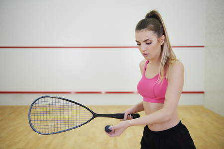 It will be my the best serve  Stock Photo