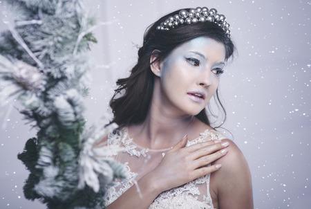 Shot of beautiful ice queen