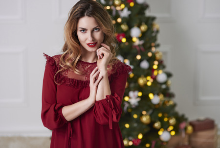 Portrait of charming woman at Christmas