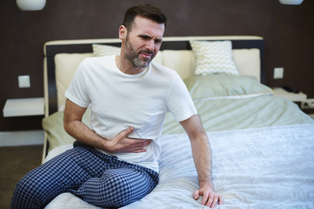 Mature man suffering from a stomachache