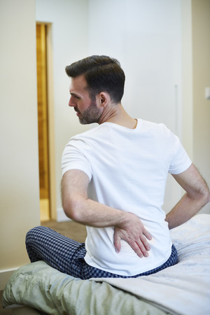 Mature man suffering from a backache