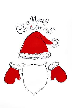 Simple christmas card with Santa Claus Zdjęcie Seryjne