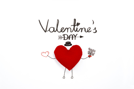 Simple valentine card with heart
