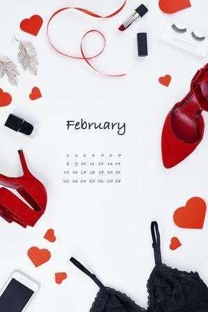 Creative calendar for February 2019