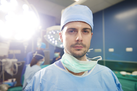 Portrait of young surgeon ready for an operation