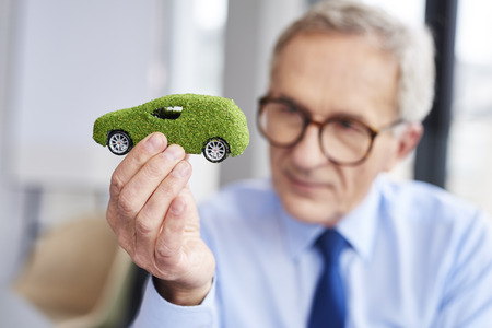 Concept of eco friendly car Stock Photo