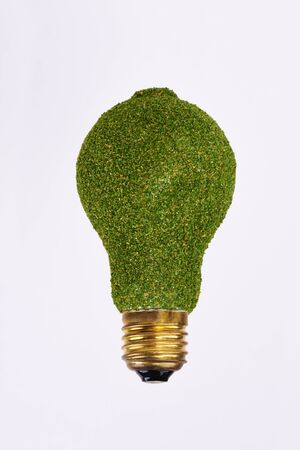 Energy efficient lightbulb on white background Banque d'images - 127280908