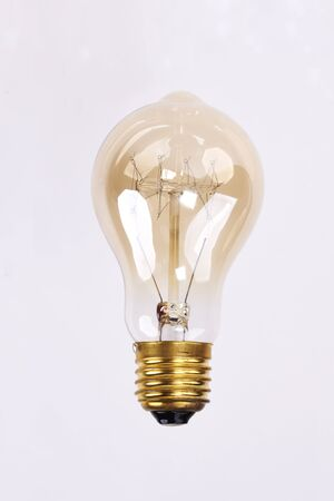 Light bulb on white background  版權商用圖片