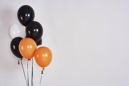 Halloween balloons with copy space in studio shot