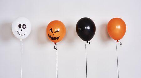 Spooky balloons for Halloween party Reklamní fotografie
