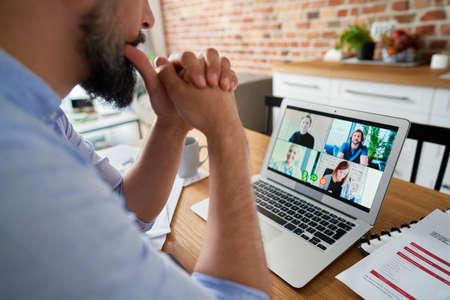 Corporate business team in video conference Standard-Bild