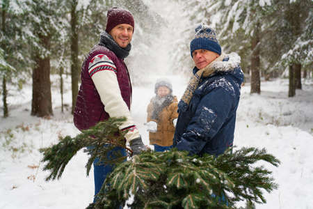 Portrait of family time at winter season