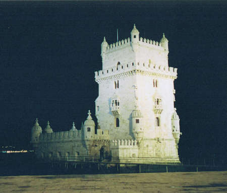 Lisbon fortress at night (Portugal)