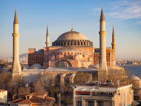 sophia: Hagia Sophia under golden late afternoon sun light, Isatanbul