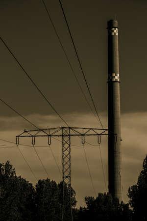power pole: power pole Stock Photo