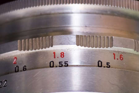 35mm: A old 35mm lens from the ddr. Stock Photo