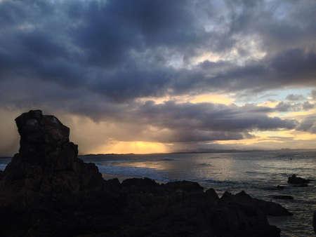byron: sunset in Byron Bay Australia