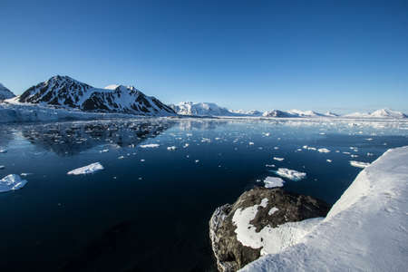 Arctic spring in the south of Spitsbergen