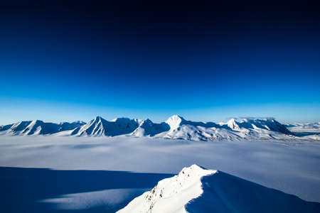 Arctic winter in the south of Spitsbergen