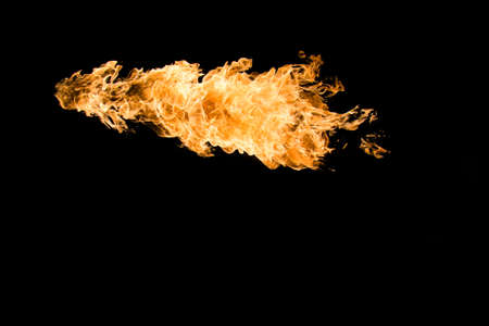 Fire in black background