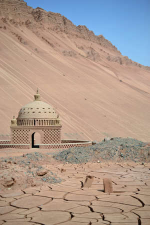 Desert at Flaming mountains by Turpan, Xinjiang, China