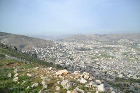 Samaritan people at traditional Passover sacrifice in Mount Gerizim near the west bank city of Nablus 2017 ISRAEL lamb