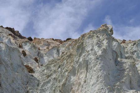 Hike at Coast of natural park of Cabo de Gata, Almeria, Andalusia, Spain, vulcanic area, sea and mountains