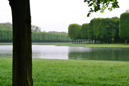 Park in Versailles, France: Gardens of the Versailles Palace near Paris, France.