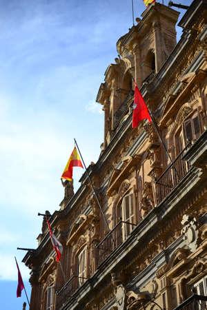 Beautiful old city of Salamanca, Spain, Cathedral and Plaza Mayor and Universidad University, Spanish architecture Imagens