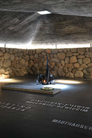 Holocaust Shoa memorial Yad Vashem in Jerusalem