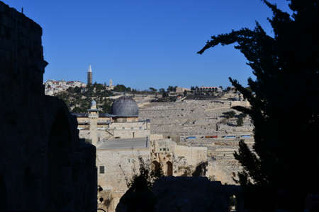 Al-Aqsa Mosque in Jerusalem on the top of the Temple Mount