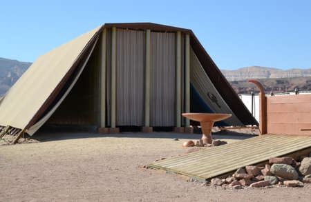 Model of Tabernacle, tent of meeting in Timna Park, Negev desert