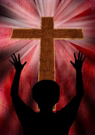 jesus praying: Praising God