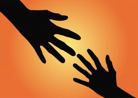 reaching hands: Een helpende handen